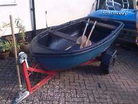 Dinghy Boat - New Oar Locks and Trailer