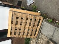 2 wooden pallets for sale