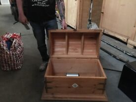 Rustic timber chest