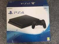 PS4 500GB Slim Black & 3 games & controller