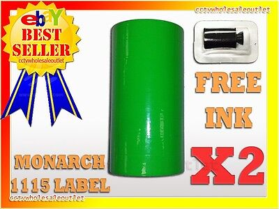 2sleeves Fluorescent Green Label For Monarch 1115 Pricing Gun 2 Sleeves20rolls.