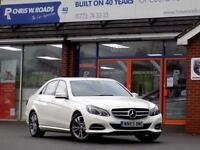 MERCEDES-BENZ E CLASS E220 BLUETEC SE 4dr AUTO 174 BHP ** Pearl White with Speedtronic ** 2015