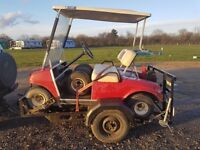 Petrol golf buggy club car with trailer and spares