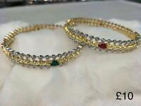 Bollywood style American Diamonds bangles set