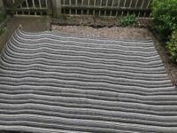 Grey striped carpet