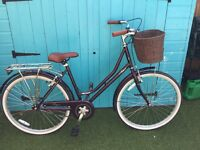 Ladies vintage bike with basket on front. Excellent condition. Only used three times