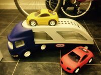 Truck and car