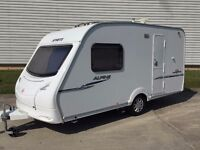 SWIFT SPRITE ALPINE 2 BERTH, FULL END WASHROOM, FULL ACCESSORIES, JUST SERVICED MUST VIEW,