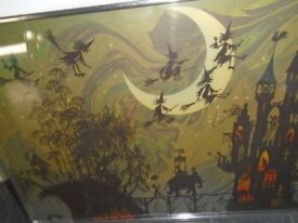 Halloween picture in frame