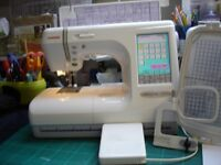 Janome Memorycraft 10001 Dual Sewing Embroidery machine