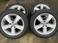 """GENUINE VW GOLF MK7 ALLOY WHEELS & TYRES 16"""" INCH"""