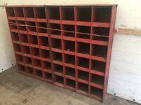 2 Industrial pigeonhole units
