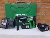 Hitachi DH25DAL 25.2v Li-ion SDS 3 mode, 2x2ah batts, charger,case_____ Makita, DeWALT , Milwaukee,