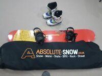 Snowboard kit - board, boots, bindings and bag