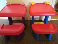 Children's art table with seat x2 excellent condition