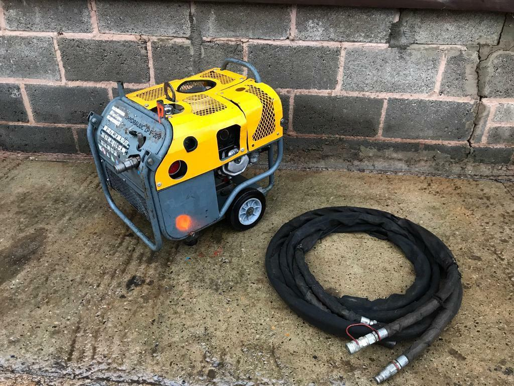 Atlas Copco hydraulic power pack, log splitter , hiab, tractor