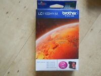 Genuine Original Brother LC1100HY-M Magenta (High Yield 750 Pages) Ink Cartridge