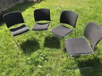 Four office chairs