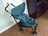 Mothercare NANU Blue Mix Stroller Buggy like new used twice.