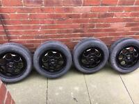 """Set of 4 15"""" Alloys with Tyres 195/45R15"""