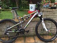 """Boardman Pro FS full suspension mountain bike 18"""""""
