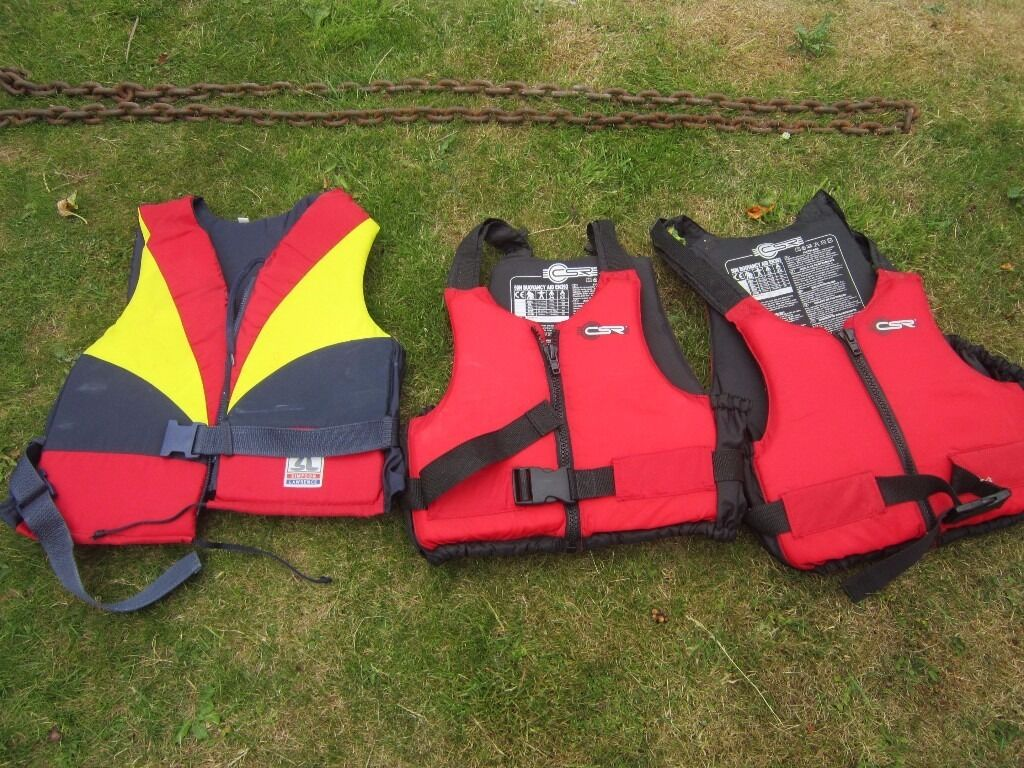 Buoyancy Aidsin Poole, DorsetGumtree - 3 Buoyancy Jackets, one adult plus 2 child jackets, suitable 5 10yrs. All in very good condition, hardly used. Surplus to requirement. Will sell separately