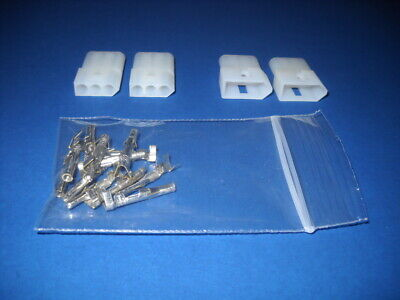 3 Pin Molex Connector Kit 2 Sets W14-20 Awg .093 Pins Free Hanging 0.093