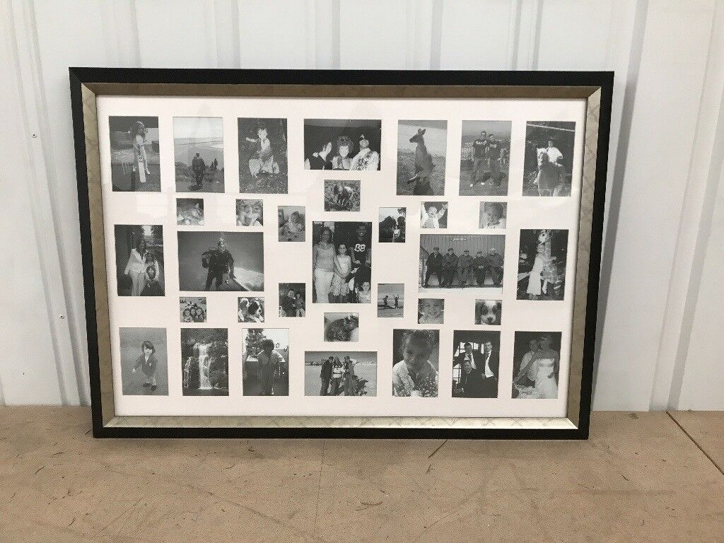 Large black silver picture frame for collage of photos 108cm x large black silver picture frame for collage of photos jeuxipadfo Gallery