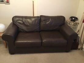2 x 2 seater Ikea Leather Sofas