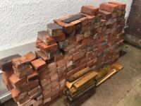 Reclaimed red bricks from victorian terrace