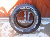 4X4 TYRE LT 215/75/R15 EXCELLENT TREAD
