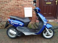 2005 MBK Ovetto 100 scooter, italian bike, new 1 year MOT, 2 stroke engine, bargain, same as yamaha