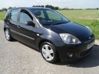 FORD FIESTA 1.4 ZETEC CLIMATE 5 DR BLACK PETROL, NICE CLEAN CAR