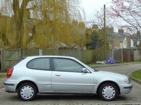 LHD.. LEFT HAND DRIVE.. TOYOTA COROLLA 1.9 DIESEL 3DR HATCHBACK **RECENT CAMBELT + NEW TYRES**