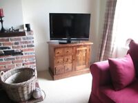 Laura Ashley furniture in Walnut - sideboard, lamp table and nest of tables