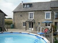 Holiday home in Brittany France with pool sleeps up to 8 people near Dinan £350-£600 per week