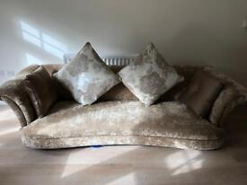 Luxury 4 seater sofa with cushions