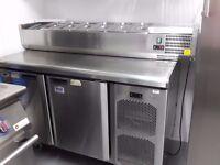 Saladette prep counter