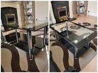 GLASS COFFEE TABLE - BLACK