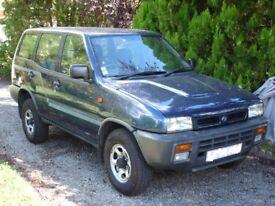 Nissan Terrano II SLX 4x4 - Diesel, LWB, manual, 7 seats, towbar, sunroof, great condition