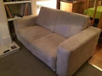 Lovely cream grey 2 Seater sofa Suede effect