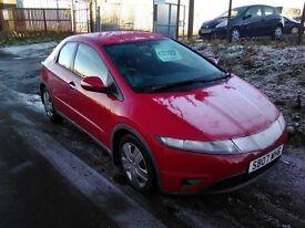 2007 Honda Civic 1.4 SE 1 years mot only 78000 miles