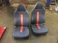 honda crx del sol vti front seats red with rails