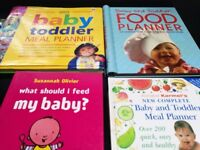 Baby and toddler meal planner books