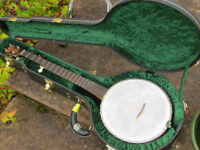 Chuck Lee Custom Tubaphone Banjo with Tony Pass Lost Timbre Rim and Superior Hard Case