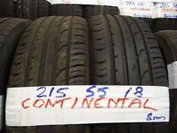 MATCHING SET 215 55 18 CONTIS 7-8mm tread £90 pair £150 set of 4 SUPP & FITTED (loads more av}