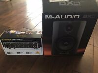 M-Audio BX5 and Behringer UMC204HD Audio Interface