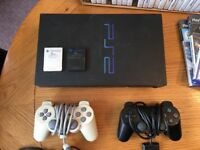 Playstation 2, games + accessories