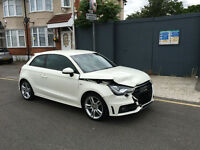2011 11 AUDI A1 S LINE TFSI 3 DOOR MANUAL WHITE DAMAGED REPAIRABLE SALVAGE CAT D