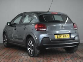 CITROEN C3 1.2 PureTech 82 Feel [Apple CarPlay] 5dr (grey) 2017